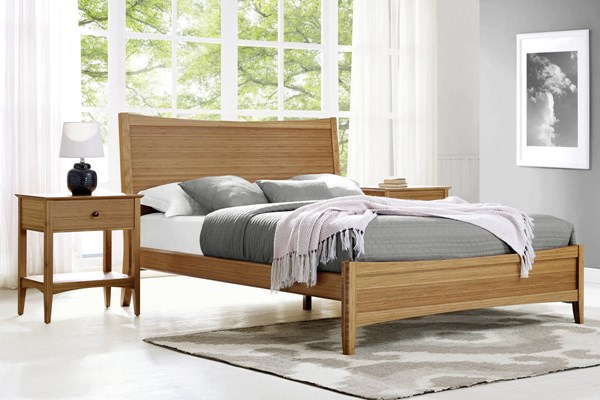 Greenington Willow Modern Caramelized 2pc Bedroom Set With Queen Bed GRN-ECO0-BR-S1