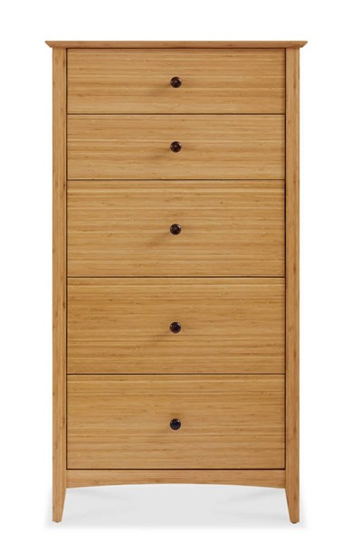 Greenington Willow Modern Caramelized Five Drawers Chest GRN-ECO04CA