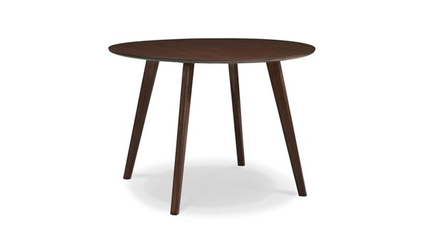 Currant Modern Black Walnut Bamboo 42 Inch Round Dining Table GRN-G0046BL