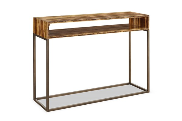 Greenington Toronto Modern Solid Exotic Tiger Bamboo Console Table