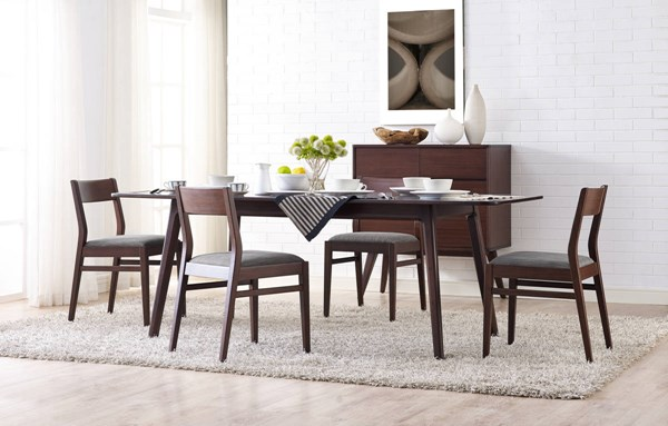 Laurel Modern Sable Caramelized Bamboo Dining Room Set GRN-GL000-DR