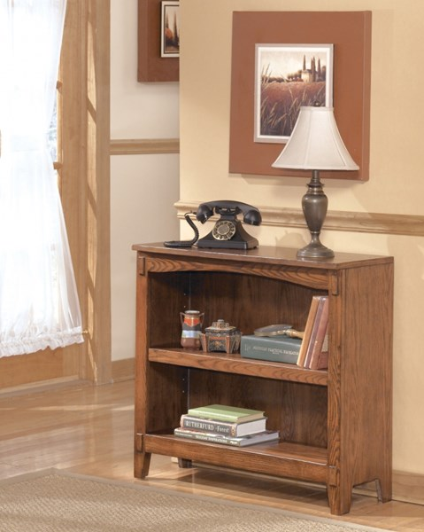 Cross Island Traditional Med Brown Oak Wood Small Bookcase H319-15