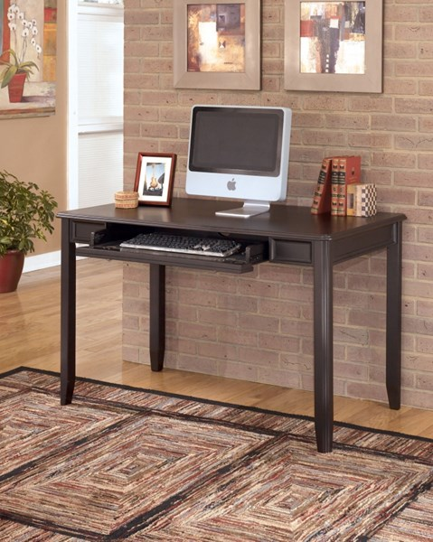 Carlyle Contemporary Black Wood Small Home Office Desk H371-10