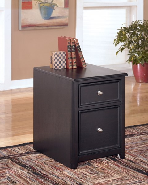 Carlyle Contemporary Black Solid Wood File Cabinet H371-12