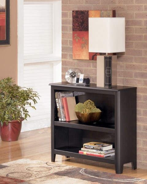 Carlyle Contemporary Black Wood Small Bookcase H371-15