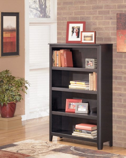 Carlyle Contemporary Black Wood Medium Bookcase H371-16