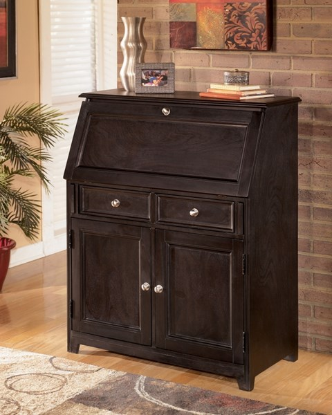Contemporary Drop Front Secretary Desk The Classy Home