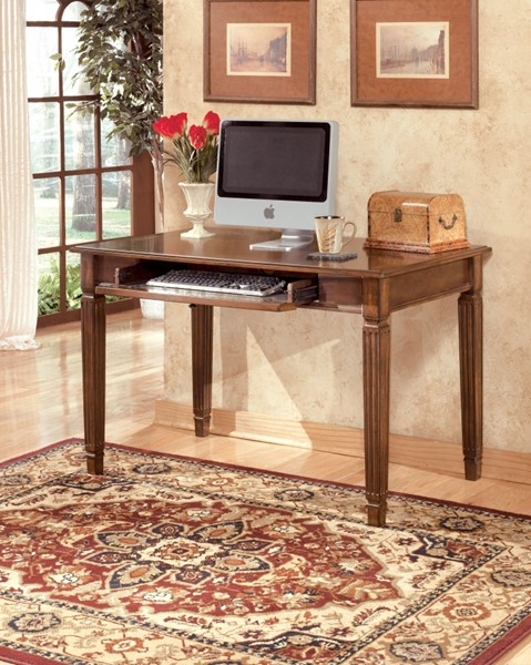 Hamlyn Traditional Medium Brown Wood Small Home Office Desk H527-10