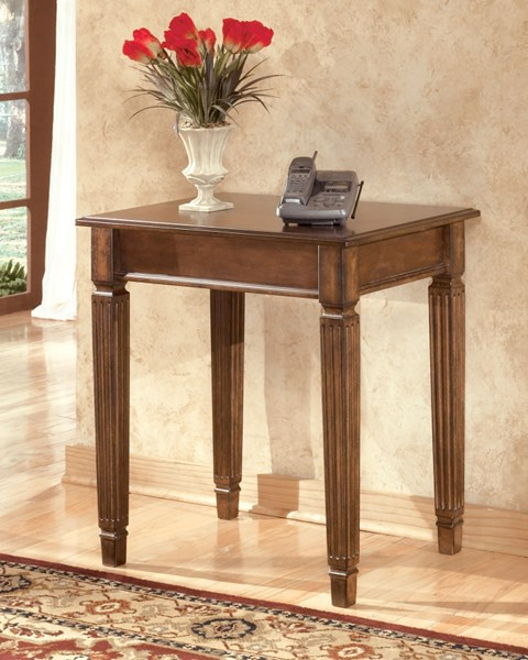 Hamlyn Traditional Brown Wood Home Office Corner Table H527-47