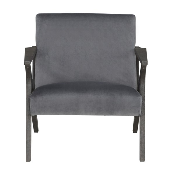 Home Elegance Coriana Gray Velvet Accent Chair HE-1111GY-1