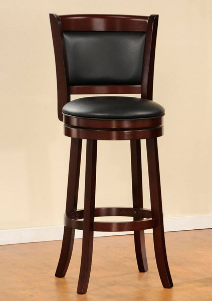 Shapel Traditional Cherry Wood Solid Back Swivel Pub Chair HE-1131-29S