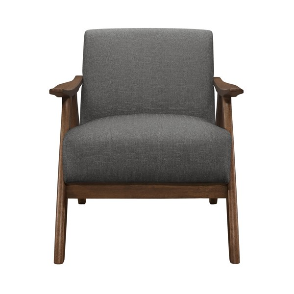 Home Elegance Damala Gray Fabric Accent Chair HE-1138GY-1