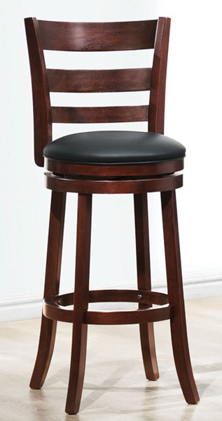 Home Elegance Edmond Cherry Ladder Back Swivel Pub Chair HE-1144E-29S