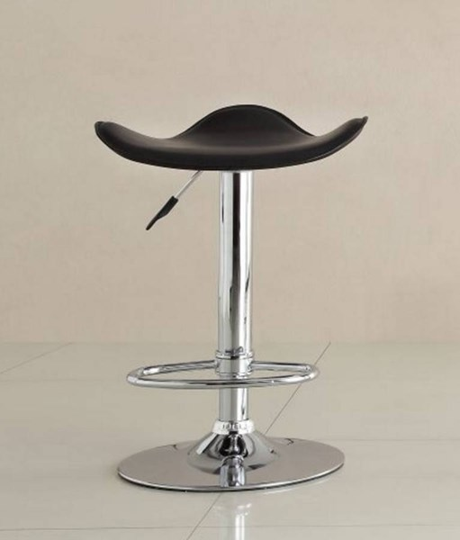 2 Ride Contemporary Black Metal Backless Airlift Swivel Stools HE-1146BLK