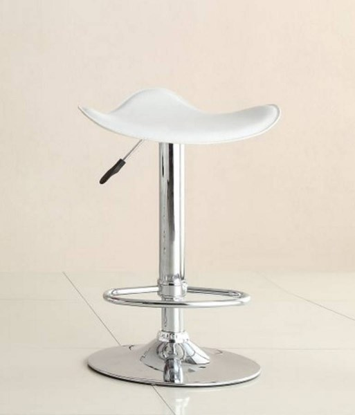 2 Ride Contemporary White Metal Backless Airlift Swivel Stools HE-1146WHT