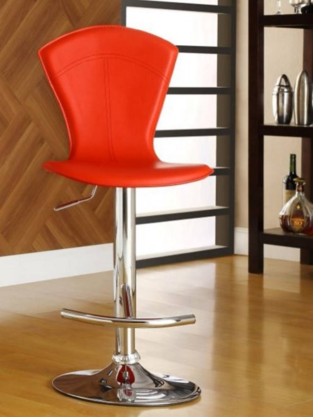 2 Ride Contemporary Red Metal Solid Back Airlift Swivel Stools HE-1148RED