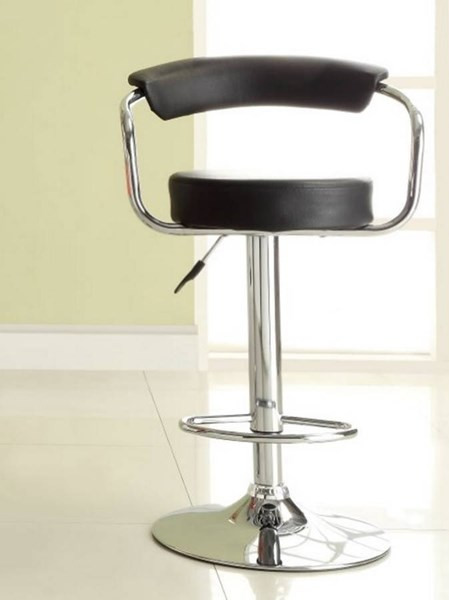 2 Ride Contemporary Black Metal Low Back Armless Airlift Swivel Stools HE-1149BLK