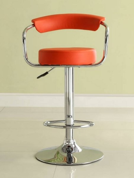 2 Ride Contemporary Red Metal Low Back Armless Airlift Swivel Stools HE-1149RED