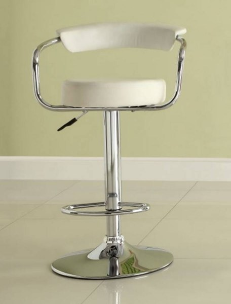 2 Ride Contemporary White Metal Low Back Armless Airlift Swivel Stools HE-1149WHT