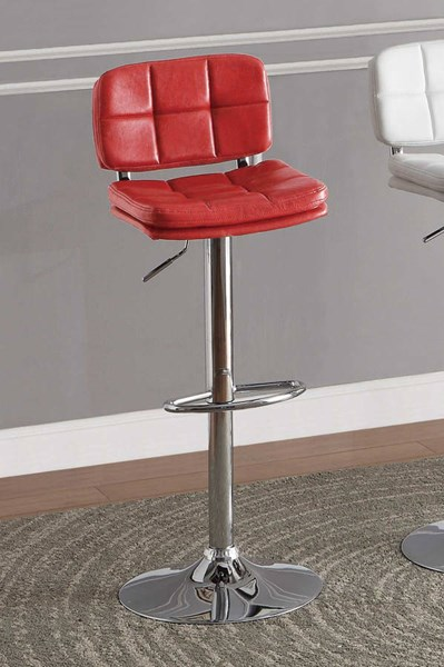 Berrien Contemporary Red Metal Airlift Swivel Stool HE-1153RED