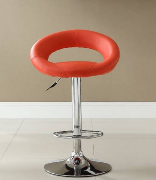 2 Ride Contemporary Red Metal Armless Low Back Airlift Swivel Stools HE-1155RED