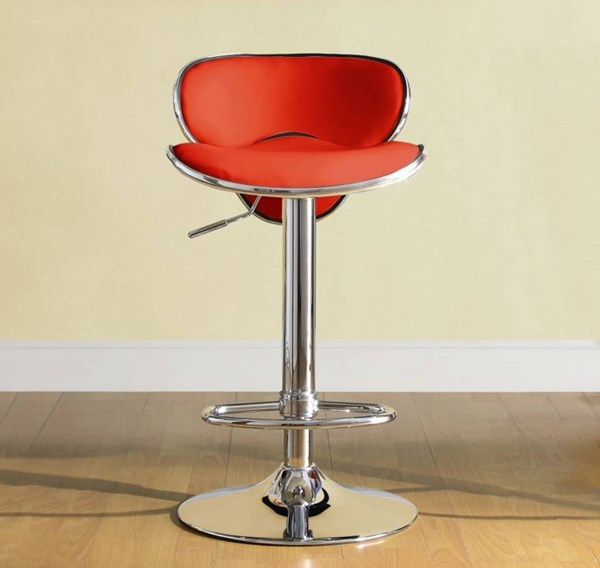 2 Ride Contemporary Red Metal Low Back Airlift Swivel Stools HE-1156RED