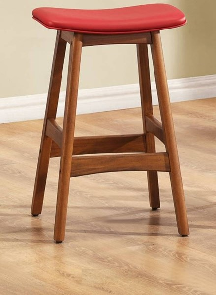 Delling Wood Vinyl Airlift Swivel Stools HE-1188-24
