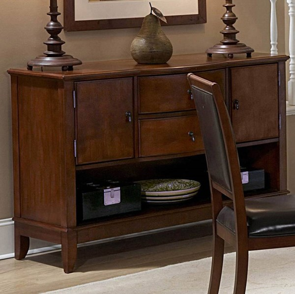 Avalon Casual Brown Wood Open Storage Server HE-1205-40