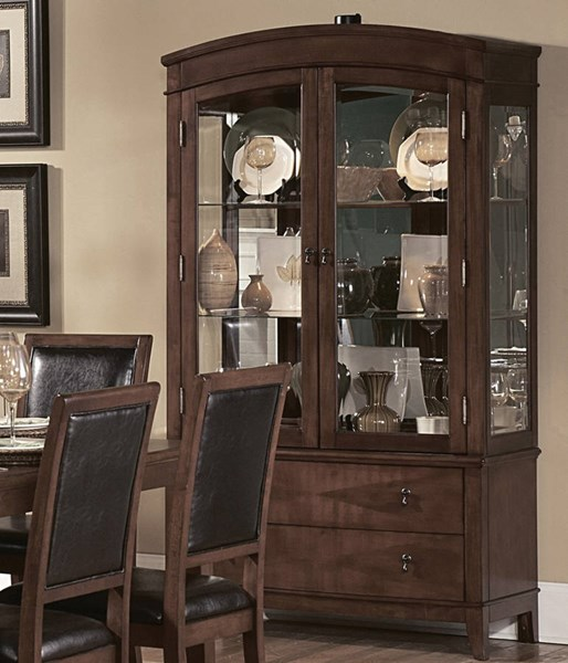 Avalon Casual Brown Wood Glass Bunching China HE-1205-50