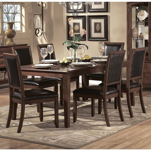 Avalon Casual Brown Wood Rectangle Dining Table HE-1205-72