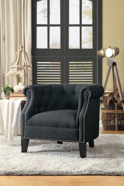 Home Elegance Karlock Gray Accent Chair HE-1220F1S