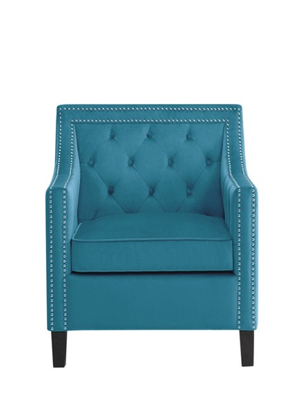 Home Elegance Grazioso Blue Accent Chair with Nailheads HE-1297BU-1