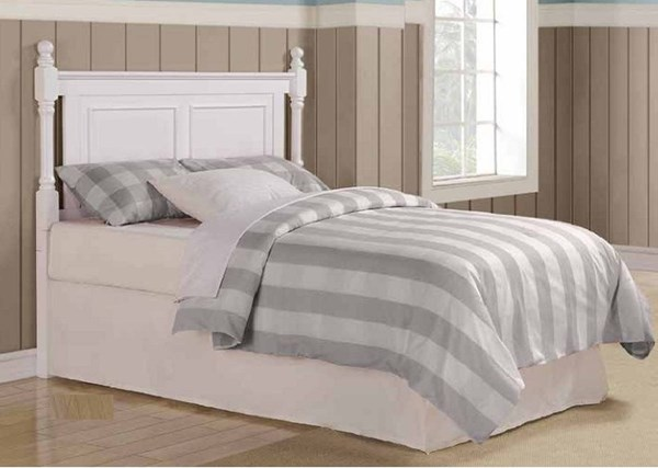 Morelle Classic White Wood Queen/Full Headboard HE-1356TW-1HB