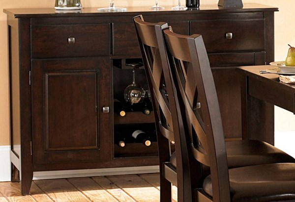 Crown Point Casual Merlot Wood Drawers Server HE-1372-40