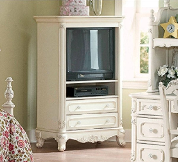 Cinderella Traditional White Cherry Wood Armoire HE-1386-7-VAR