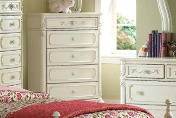 Cinderella Traditional White Cherry Wood Chest HE-1386-9-VAR