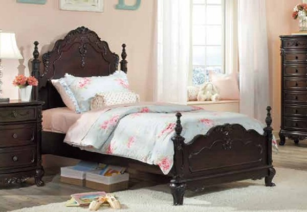Cinderella Traditional Cherry Wood Full Poster Bed HE-1386FNC-1
