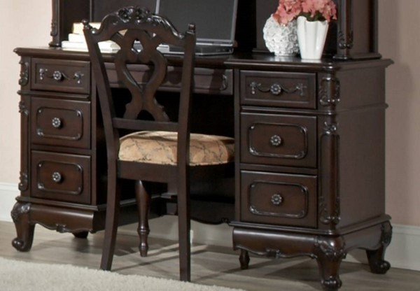 Cinderella Traditional Black Wood Solid Back Chair HE-1386NC-11C