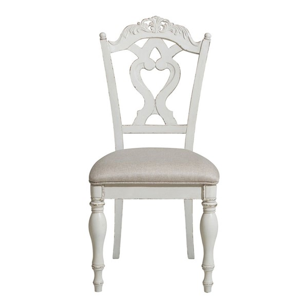 Home Elegance Cinderella Antique White Writing Desk Chairs HE-1386-11C-CH-VAR