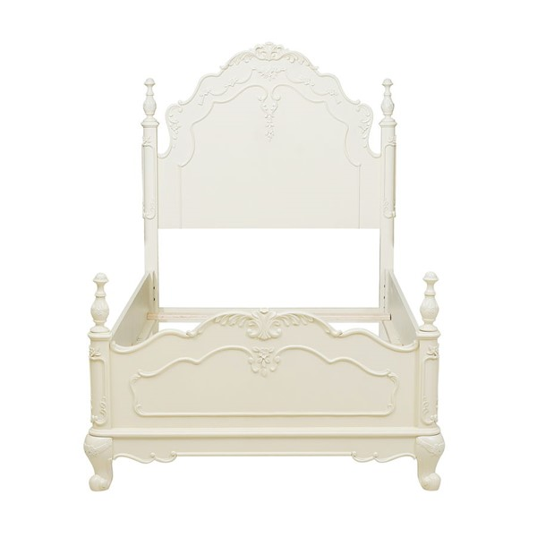Home Elegance Cinderella Off White Twin Poster Bed HE-1386T-1