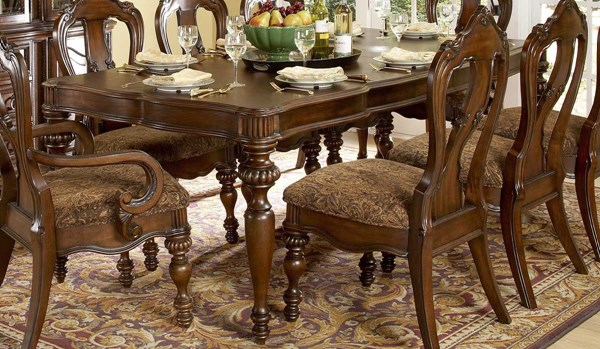 Prenzo Casual Warm Brown Wood Rectangle Dining Table HE-1390-102