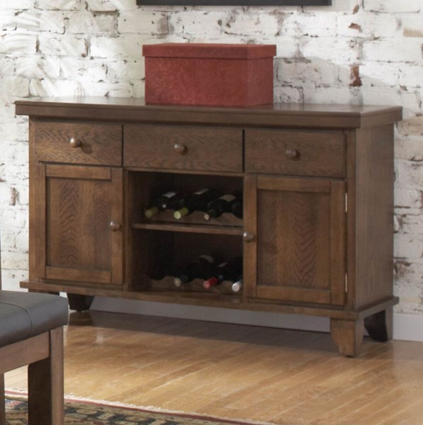 Kirtland Casual Warm Oak Wood Drawers Server HE-1399-40