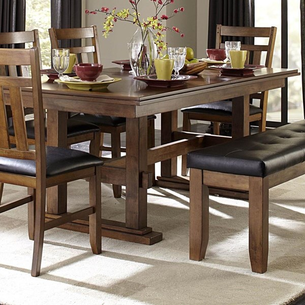 Kirtland Casual Warm Oak Wood Dining Extension Table Slide HE-1399-90