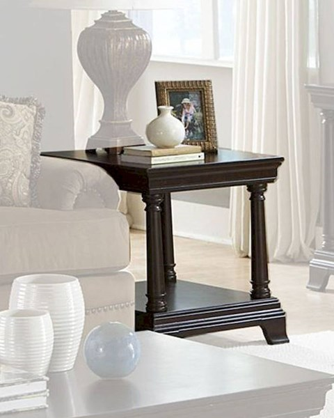 Inglewood Traditional Dark Cherry Wood End Table HE-1402-04
