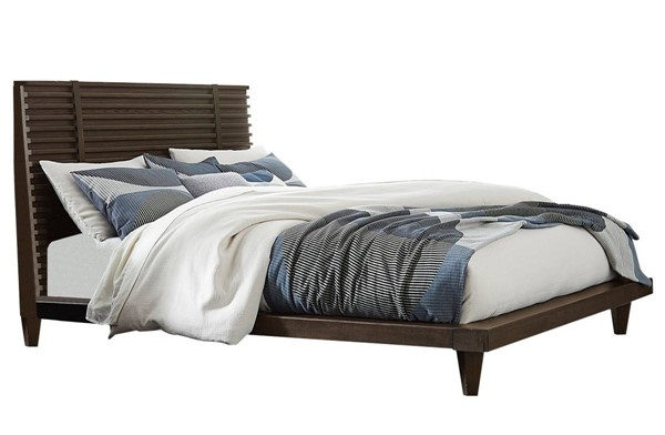 Home Elegance Ridgewood Burnished Oak Queen Platform Bed HE-1600-1