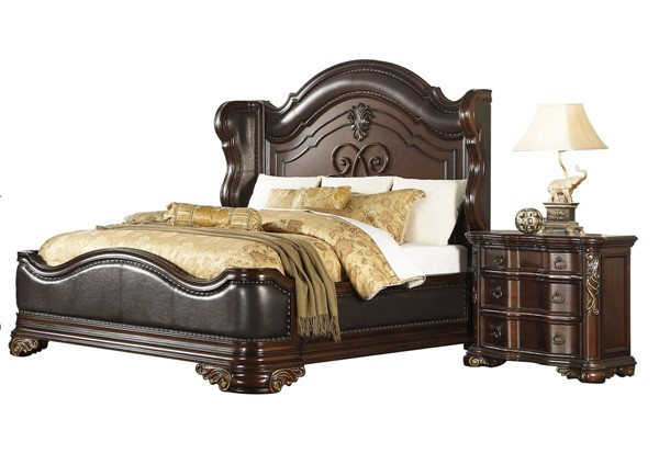 Home Elegance Royal Highlands 2pc Bedroom Set with Queen Bed HE-1603-BR-S1