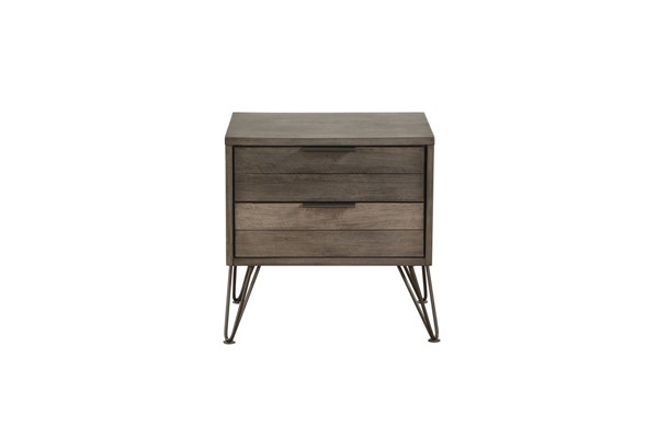 Home Elegance Urbanite Gray Night Stand HE-1604-4
