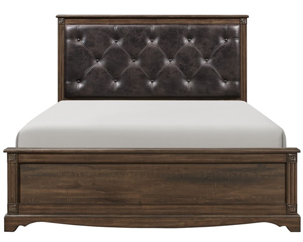 Home Elegance Beaver Creek Rustic Brown Queen Bed HE-1609-1
