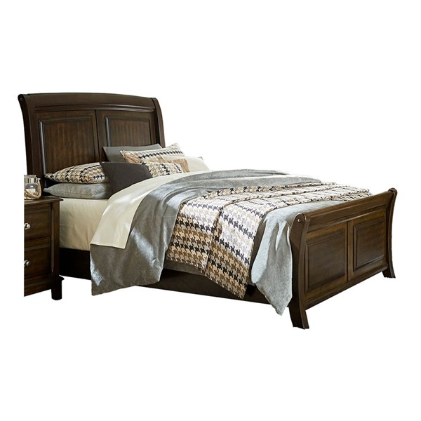 Home Elegance Fostoria Brown Cherry Beds HE-1615-BEDS