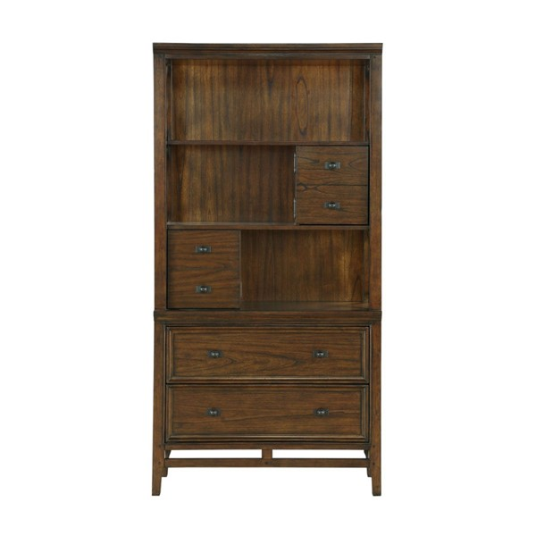 Home Elegance Frazier Park Dark Cherry Bookcase HE-1649-18